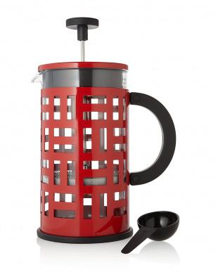 レッド  EILEEN フレンチプレスコーヒーメーカー 1L見る