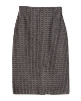 ダークグレー  ウインドウペンチェックタイトスカート見る