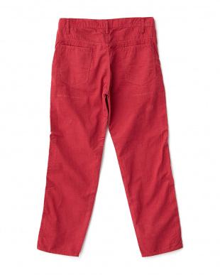 DEEP RED  クラッシュコーデュロイ5ポケットパンツ|UNISEX見る