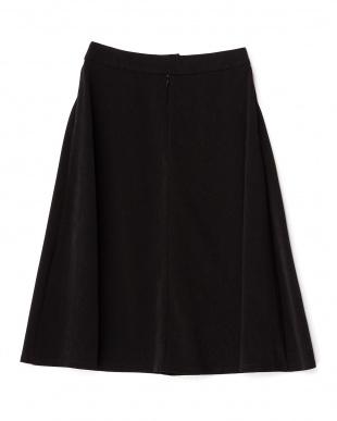 ブラック  スエード調 フレアースカート見る