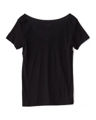 ブラック  抗菌防臭 吸水速乾 Ice Deo 2分袖シャツ見る