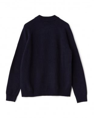 NAVY ラムモックネックセーター見る