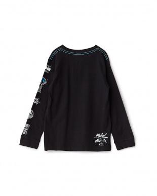 BLK  キッズ グラフィックライン&ロゴ 長袖Tシャツ見る