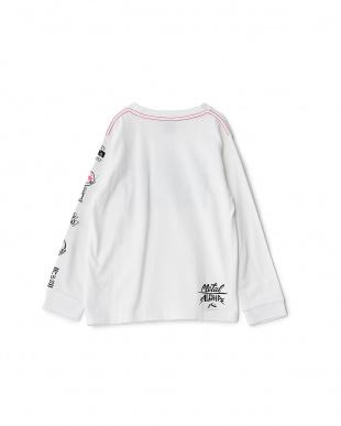 WHT  キッズ グラフィックライン&ロゴ 長袖Tシャツ見る