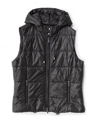 ブラック  イタリア製生地 中わたジャケット&ベスト見る