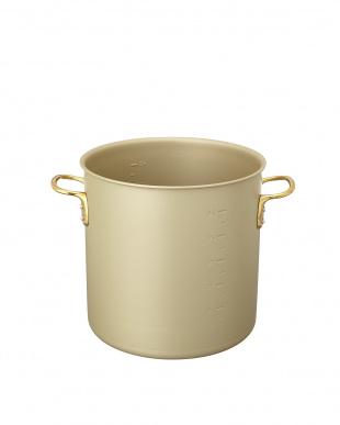ゴールド ガス専用 アルマイト加工寸胴鍋(33cm)見る