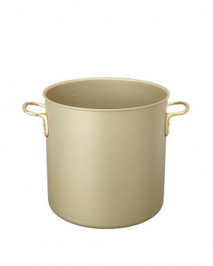 ゴールド ガス専用 アルマイト加工寸胴鍋(36cm)見る