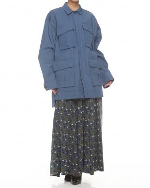 ブルー  KABUKI刺繍オーバーサイズジャケット見る