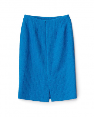 ブルー  カラーツイードタイトスカート見る