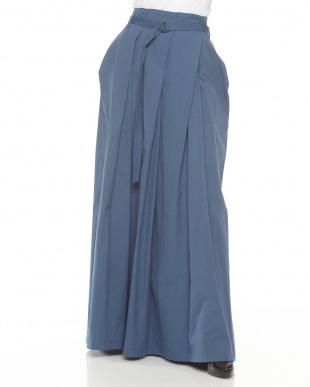 ブルー  リップストップスカート見る
