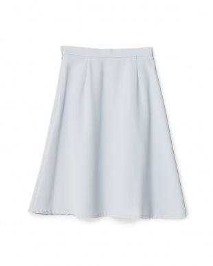 サックス  ダブルクロスフレアスカート見る