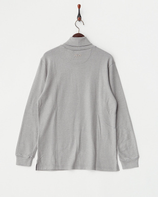 グレー  機能性タートルネックシャツ見る