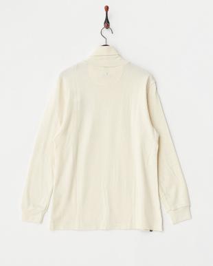 ホワイト  機能性タートルネックシャツ見る