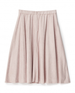 ピンク  スエードタッチフレアスカート見る
