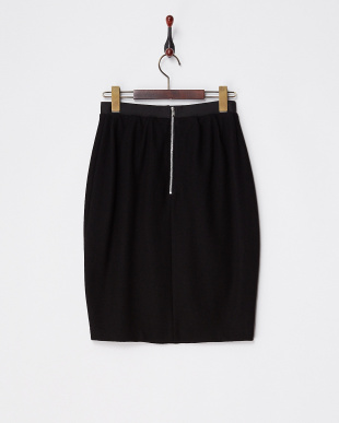 ブラック  タック入りバックジップスカート見る