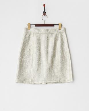 ゴールド系 メタリック台形スカート見る