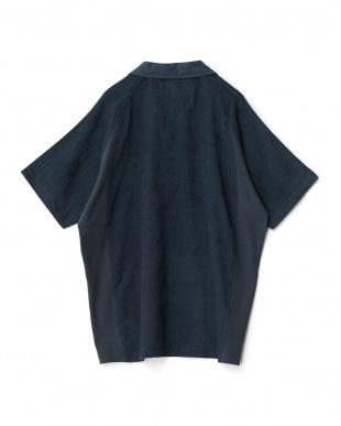 ダークブルー  ao+ 超極薄タオル半袖ポロシャツ見る