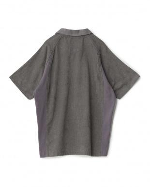 ダークグレイ  ao+ 超極薄タオル半袖ポロシャツ見る