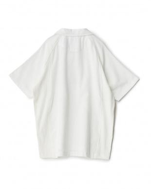 ホワイト  ao+ 超極薄タオル半袖ポロシャツ見る