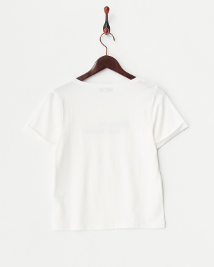 オフホワイト  ロゴ刺繍コンパクトTシャツ見る