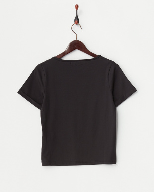 ブラック  ロゴ刺繍コンパクトTシャツ見る
