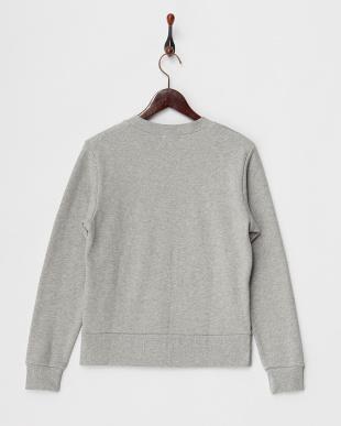 Gray Mixture ヘムボタンクルーネックスウェットシャツ見る