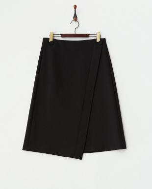 ブラック ラップスカート見る