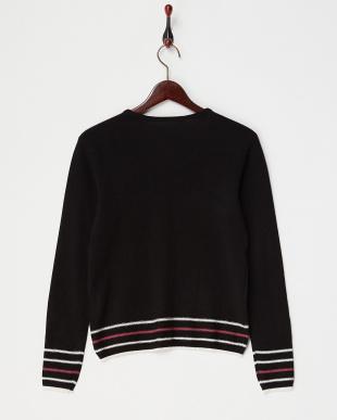ブラック  裾ラインセーター見る