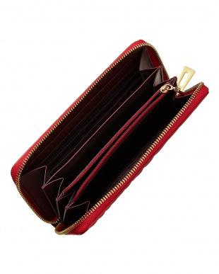 フレイムレッド  ヘンローン社製クロコダイル ラウンドファスナー長財布見る