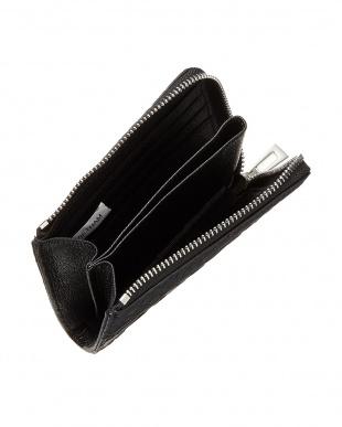 ブラック  クロコダイル L字ファスナーコンパクト財布見る