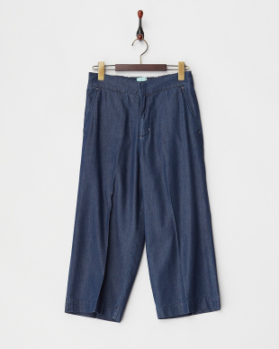 ネイビー  DENIM GAUCHO PANTS見る