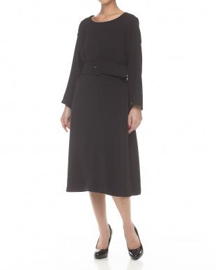 ブラック  DOUBLE CLOTH BELT OP見る