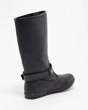 ブラック  ラクチンきれいブーツ(晴雨兼用)見る