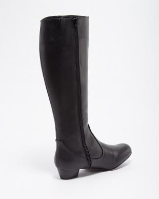 ブラック ラクチンきれいブーツ(晴雨兼用ロング)見る