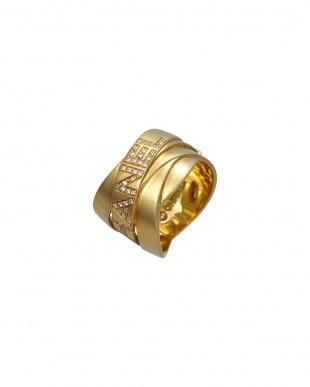 ゴールドカラー ダイヤリング 12.3g 750見る
