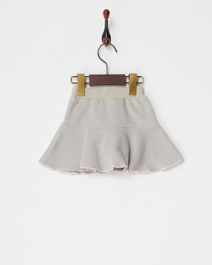グレー  メローヘムフリーススカート見る