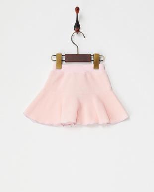 ピンク  メローヘムフリーススカート見る