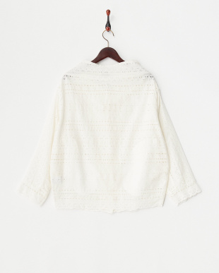 OFF WHITE  EMB LACE LOOSE JKT見る