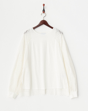 OFF WHITE  EMBROIDERED LACE DRAPY JMP見る