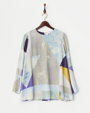 CUBIC  PRINTED LAWN FLARE TOP見る