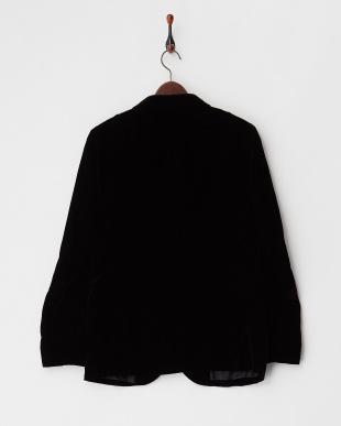 ブラック ベルベットジャケット見る