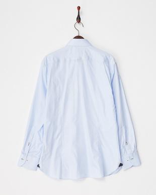 ブルー ヘリンボーンボタンダウンシャツ見る