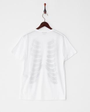ホワイト  肋骨プリントTシャツ見る