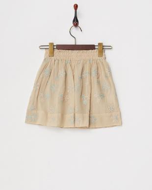 アイボリー  スノークリスタル刺繍スカート見る