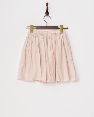 ピンク はしごレース使いガーゼスカート見る