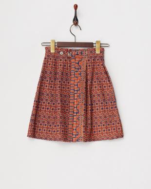 ベージュ  2カラー刺繍スカート見る