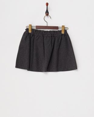 チャコール ヘリンボーンギャザースカート見る