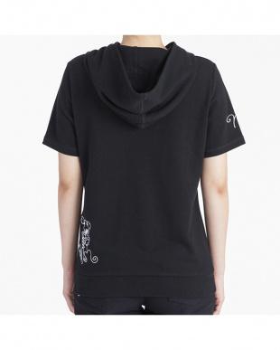 ブラック 半袖パーカー|WOMEN見る