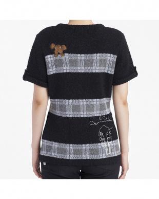 ブラック  ブークレー半袖プルオーバー|WOMEN見る