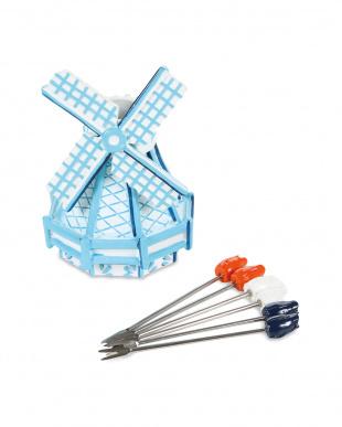 パーティーピック6Pセット Wind Mill Delft Blue見る
